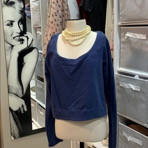 Lululemon pullover blue sweater crop